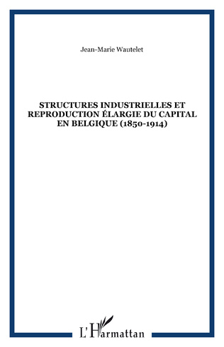 Couverture Structures industrielles et reproduction élargie du capital en Belgique (1850-1914)
