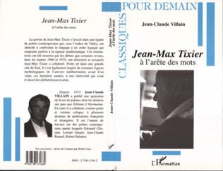Couverture Jean-Max Tixier à l'arête des mots