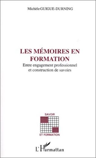 Couverture Les mémoires en formation