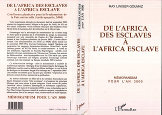 Couverture De l'Africa des esclaves à l'Africa esclave