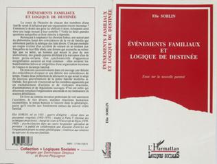Couverture Evénements familiaux et logique de destinée