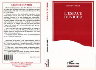 Couverture L'espace ouvrier