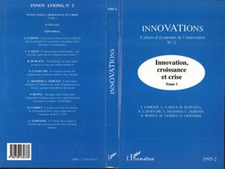 Couverture Innovation, croissance et crise (tome 1)
