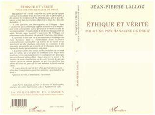 Couverture Ethique et vérité