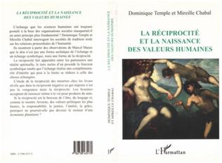 Couverture La Réciprocité et la naissance des valeurs humaines