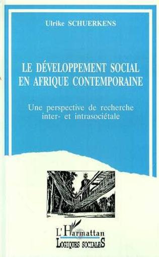 Couverture Le développement sociale Afrique contemporaine