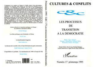 Couverture Les processus de transition à la démocratie
