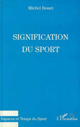 Couverture Signification du sport