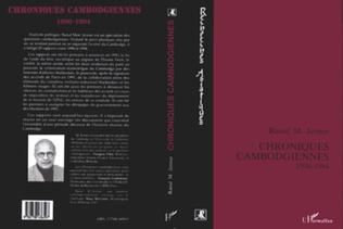 Couverture Chroniques cambodgiennes 1990-1994