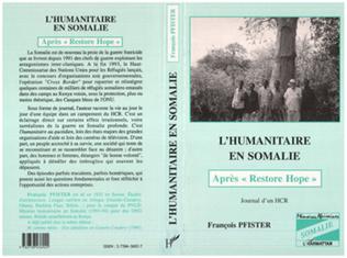 Couverture L'humanitaire en Somalie