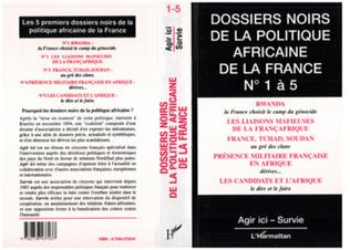 Couverture Dossiers Noirs de la politique africaine de la France