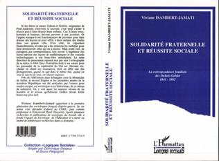 Couverture Solidarité fraternelle et réussite sociale