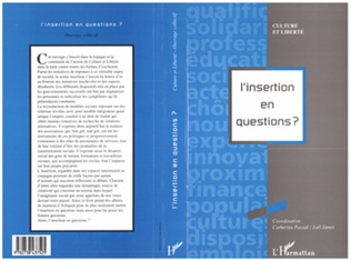 Couverture L'INSERTION EN QUESTIONS ?