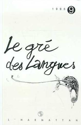 Couverture Le gré des langues n°9