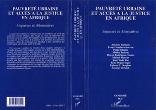 Couverture Pauvreté urbaine et accès à la justice en Afrique