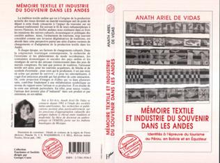 Couverture Mémoires textile et industrie du souvenir dans les Andes