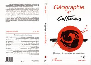 Couverture Géographie et cultures n°16