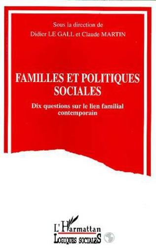 Couverture FAMILLES ET POLITIQUES SOCIALES