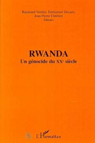 Couverture Rwanda un génocide du XXème siècle