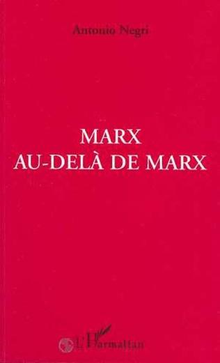 Couverture Marx au-delà de Marx