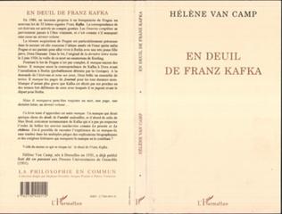 Couverture En deuil de Franz Kafka