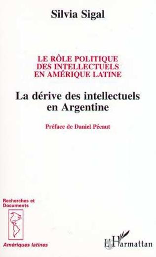 Couverture Le rôle politique des intellectuels en Amérique Latine