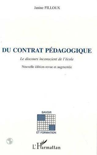 Couverture Du contrat pédagogique