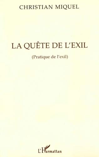 Couverture La quête de l'exil