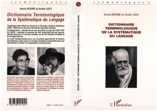 Couverture Dictionnaire terminologique de la systématique du langage