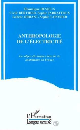 Couverture L'anthropologie de l'électricité