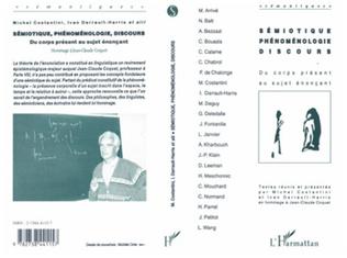 Couverture Sémiotique, phénoménologie, discours