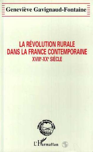 Couverture La révolution rurale dans la France contemporaine