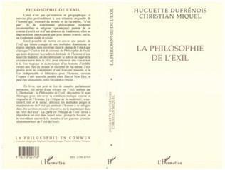 Couverture La philosophie de l'exil
