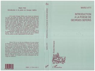 Couverture Introduction à la poésie de Georges Seferis