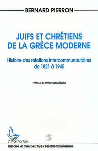 Couverture Juifs et Chrétiens de la Grèce Moderne