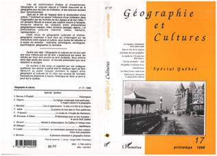Couverture Géographie et cultures n°17