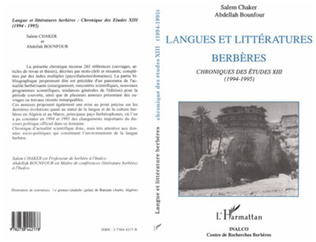 Couverture Langues et littératures berbères