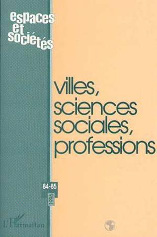 Couverture Villes, sciences sociales, professions