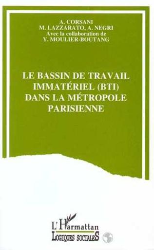 Couverture Le bassin de travail immatériel (BTI) dans la métropole parisienne