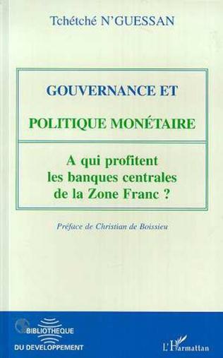 Couverture Gouvernance et politique monétaire