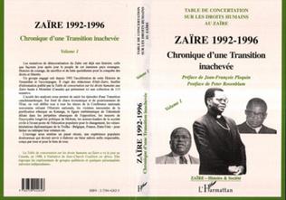 Couverture Zaïre 1992-1996