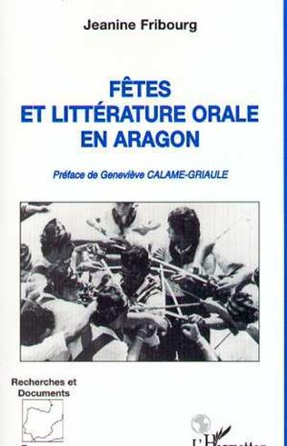 Couverture Fêtes et littérature orale en Aragon