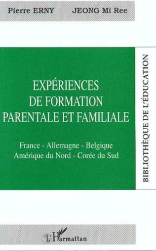 Couverture EXPÉRIENCE DE FORMATION PARENTALE ET FAMILIALE