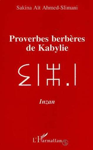 Couverture Proverbes berbères de Kabylie