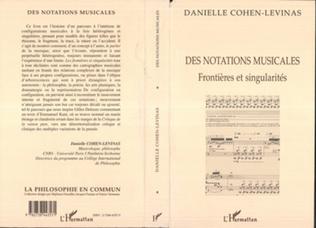Couverture Des notations musicales