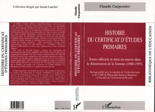 Couverture Histoire du certificat d'études primaires