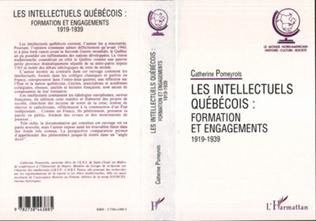 Couverture Les intellectuels québecois