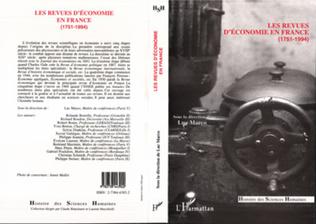 Couverture Revues d'économie en France (1751-1994)