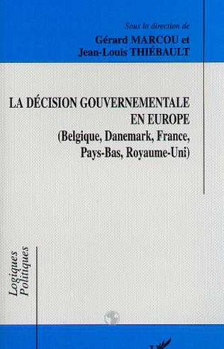 Couverture La décision gouvermentale en Europe