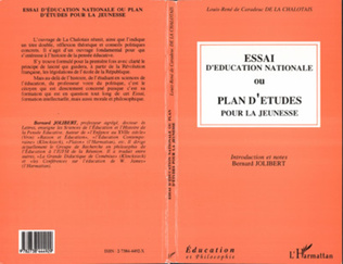Couverture Essai d'éducation nationale ou plan d'études pour la jeunesse